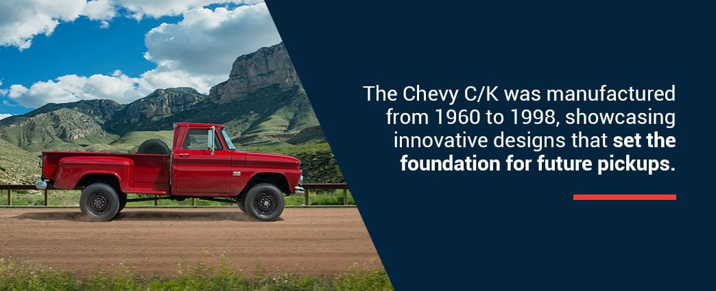 Chevy C/K manufactured from 1960-1998