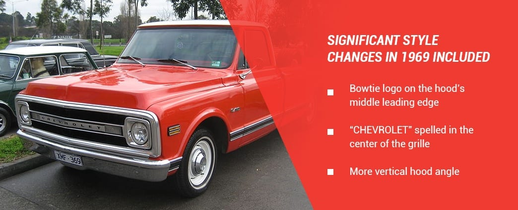 1969 Chevy CK model changes