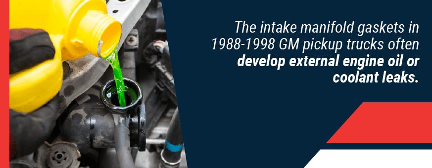 External engine or coolant leaks
