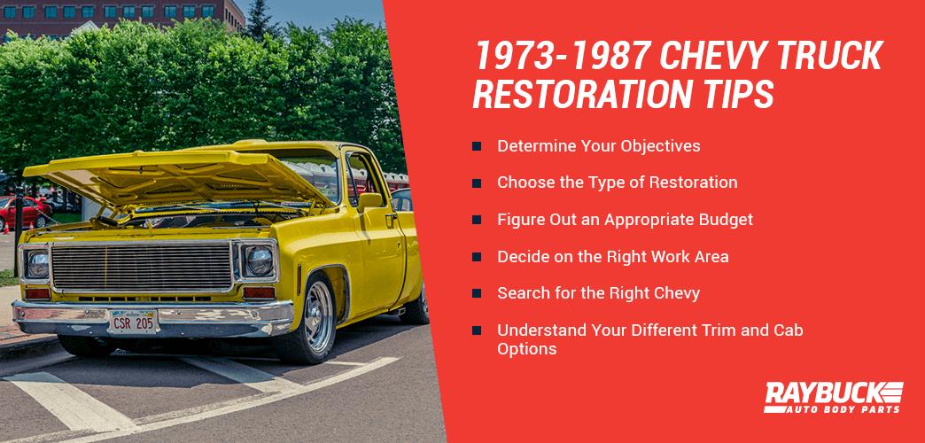 1973 1987 Chevy Truck History Restoration Chevy Truck Restoration Parts