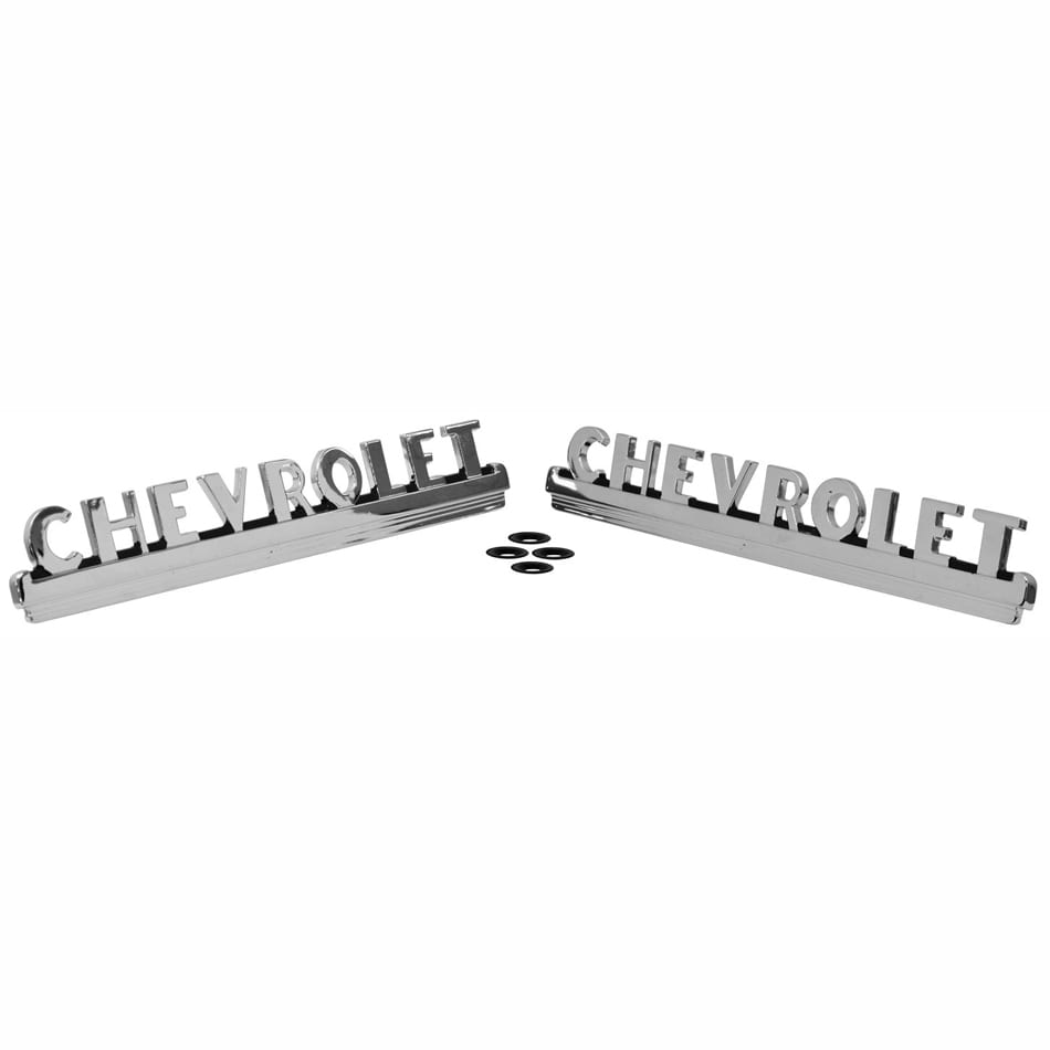 1947-1953 Chevy Pickup Truck Hood Emblem Pair
