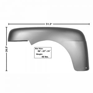 1948-1950 Ford Pickup Truck Fender Driver Side (LH)