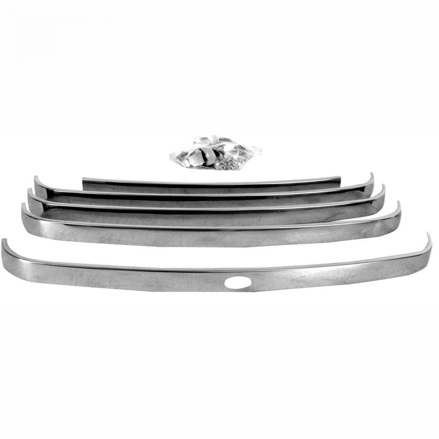 1948-1950 Ford Pickup Truck Grille Bar with Crank Cut Hole Stainless 5Pcs