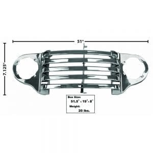 1948-1950 Ford Pickup Truck Grille Panel All Chrome