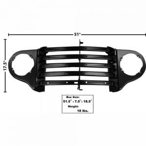 1948-1950 Ford Pickup Truck Grille Panel with Parklamp Bezel