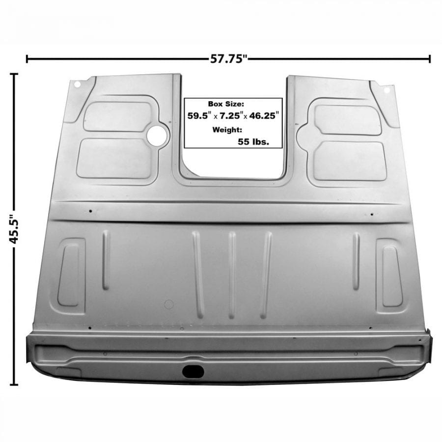 1948-1952 Ford Pickup Truck Floor Panel Assembly Front