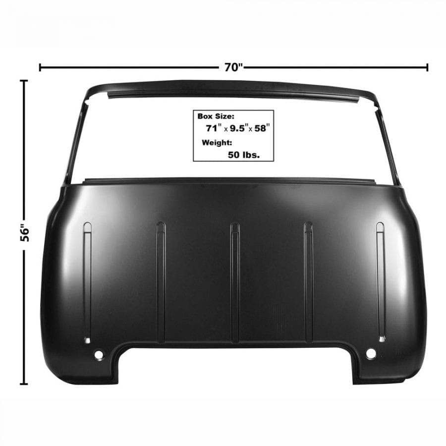 1953-1955 Ford Pickup Truck Cab Back Panel Large Window