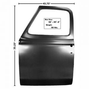 1953-1955 Ford Pickup Truck Door Shell Driver Side (LH)