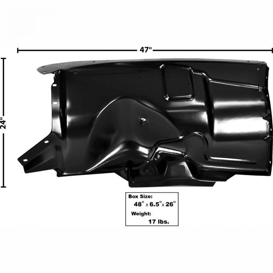 1953-1956 Ford Pickup Truck Fender Inner Driver Side (LH)