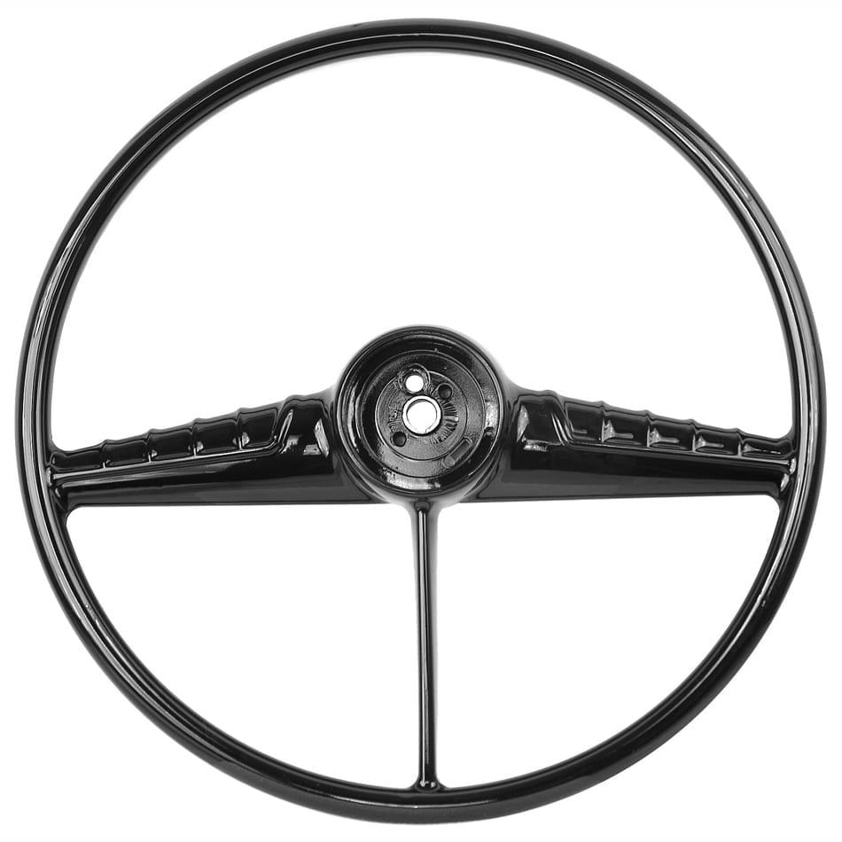 1954-1956 Chevy Pickup Truck Steering Wheel Black