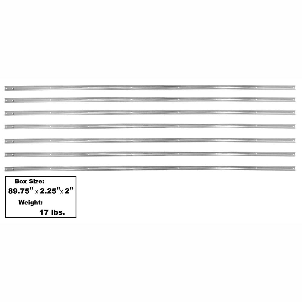 1954-1959 Chevy Pickup Truck Stainless Bed Strip Kit Long Bed 7 Pcs