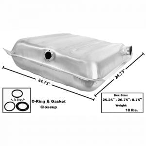 1955-1956 Chevy 150|210|Bel Air|Nomad Gas Tank Stainless Square