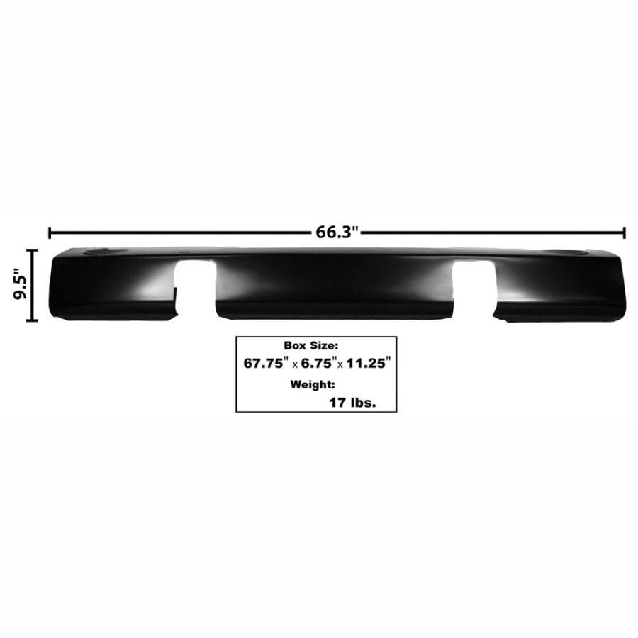 1955-1956 Ford Pickup Truck Bumper Front Stone Deflector with Park Light Hole with Bumper Bracket Hole