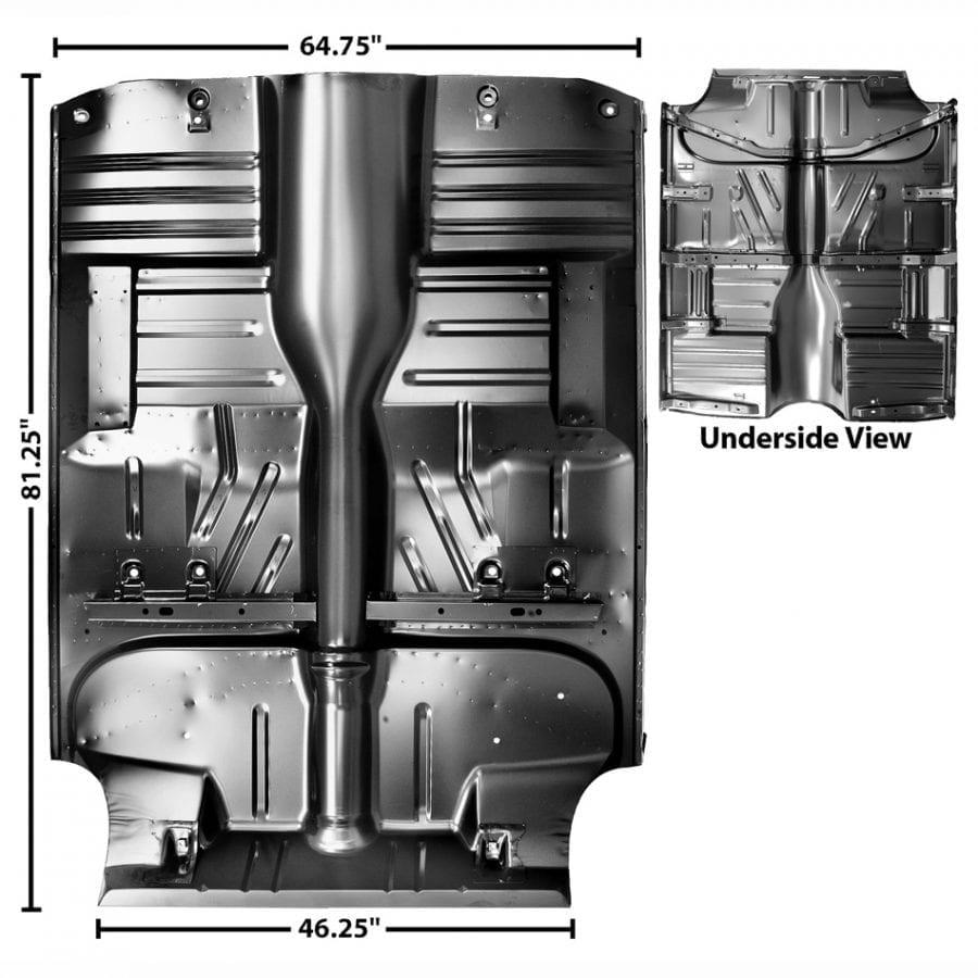 1955-1957 Chevy 150|210|Bel Air|Nomad Floor Pan Complete Hardtop/ Convertible