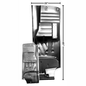 1955-1957 Chevy 150|210|Bel Air|Nomad Floor Pan Passenger Side (RH) Hardtop/Convertible