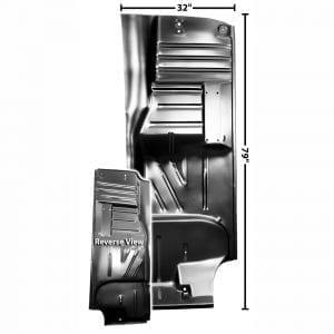 1955-1957 Chevy 150|210|Bel Air|Nomad Floor Pan Passenger Side (RH) Sedan