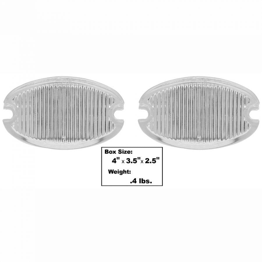1957 Chevy 150|210|Bel Air|Nomad Backup Lamp Lens Pair