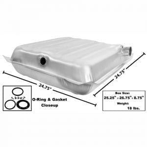 1957 Chevy 150|210|Bel Air|Nomad Gas Tank Stainless Steel