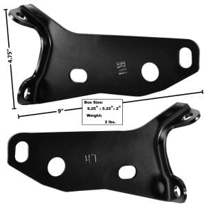1957 Chevy 150|210|Bel Air|Nomad Rear Bumper Bracket Pair
