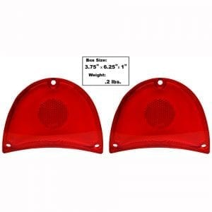 1957 Chevy 150|210|Bel Air|Nomad Tail Lamp Lens Red Pair