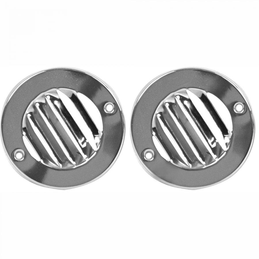 1961-1966 Ford Pickup Truck Defrost Round Louver Vent Set