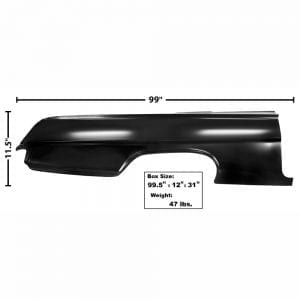 1962 Chevy Impala Quarter Panel Full Right