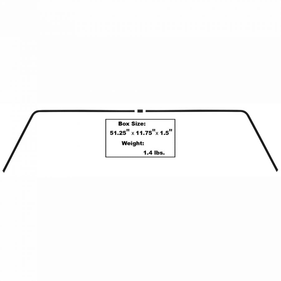 1964-1965 Dodge Charger Rear Window Interior Trim 3Pc