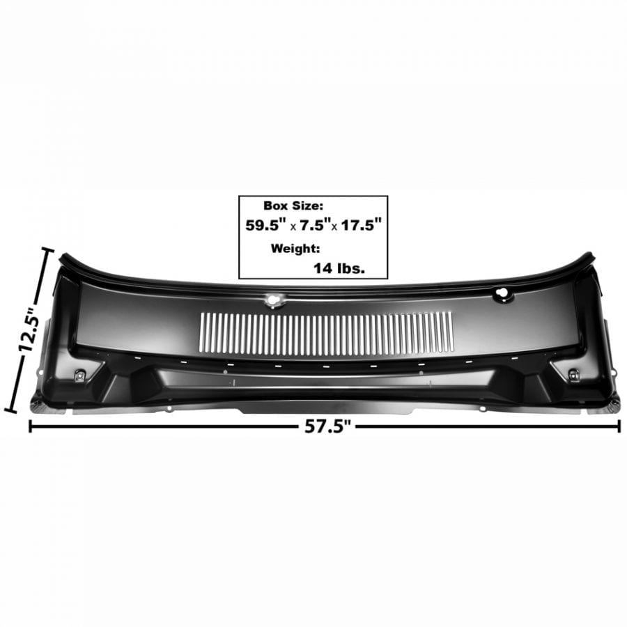 1964-1965 Ford Falcon Cowl Cover Panel with Vents