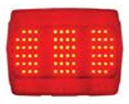 1964-1966 Ford Mustang Tail Light Red LED-DYNFTL6401LED