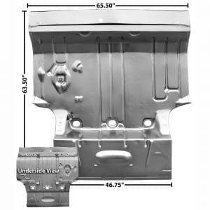 1964-1967 Pontiac GTO Trunk Floor Pan Complete