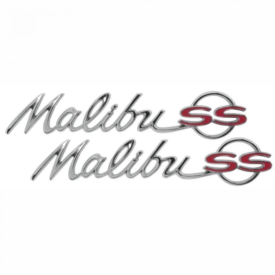 1964 Chevy Chevelle Emblem Quarter Malibu SS Pair