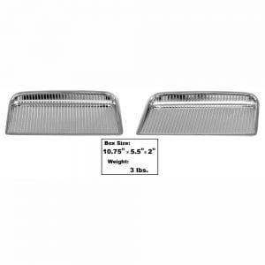 1964 Pontiac GTO Hood Scoop Chrome Pair
