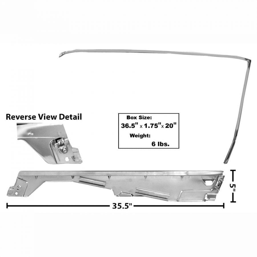 1965-1966 Ford Mustang Door Window Frame Kit Passenger Side (RH) Convertible