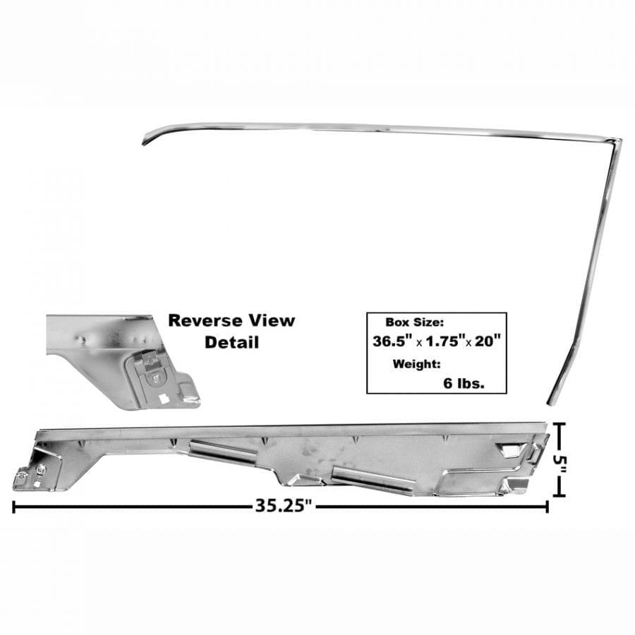 1965-1966 Ford Mustang Door Window Frame Kit Passenger Side (RH) Coupe