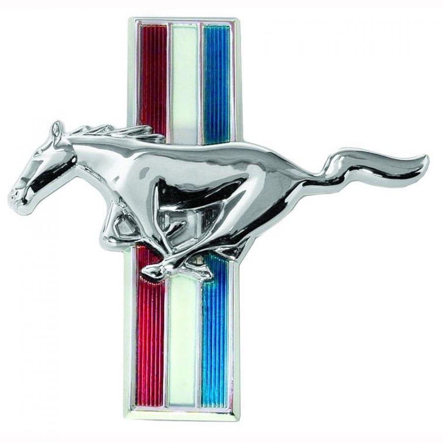 1965-1966 Ford Mustang Emblem Flat Glove Box