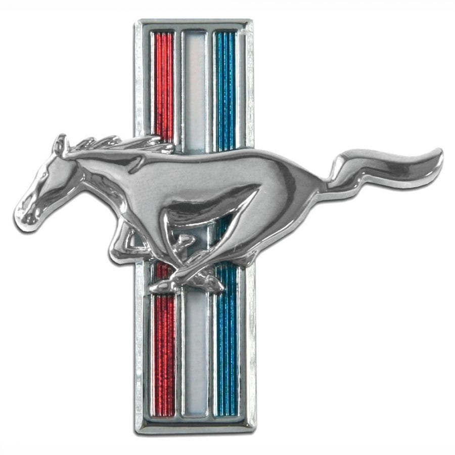 1965-1966 Ford Mustang Emblem Running Horse Driver Side (LH)