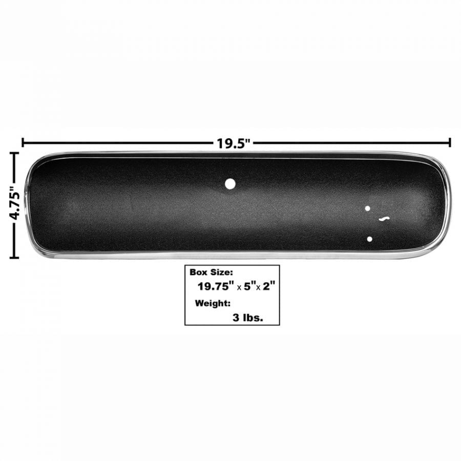 1965-1966 Ford Mustang Glove Box Door Curved Black