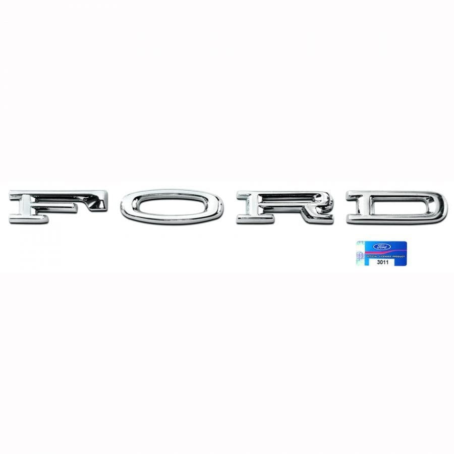 1965-1966 Ford Mustang Hood Letters Ford