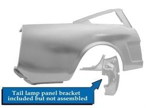 1965-1966 Ford Mustang Quarter Panel Full Passenger Side (RH) Fastback-DYN3647EAWT