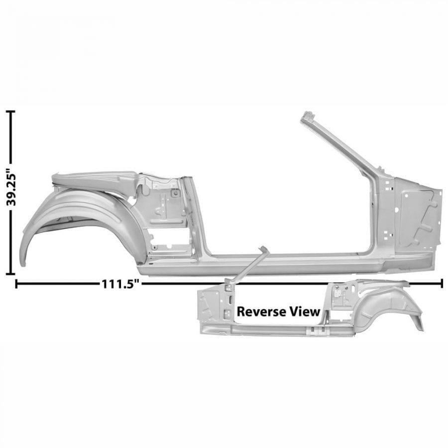 1965-1966 Ford Mustang Quarter/Door Frame Assembly Passenger Side (RH)