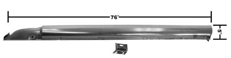 1965-1966 Ford Mustang Rocker Panel Complete Driver Side (LH) Coupe or Fastback-DYN3647MBWT