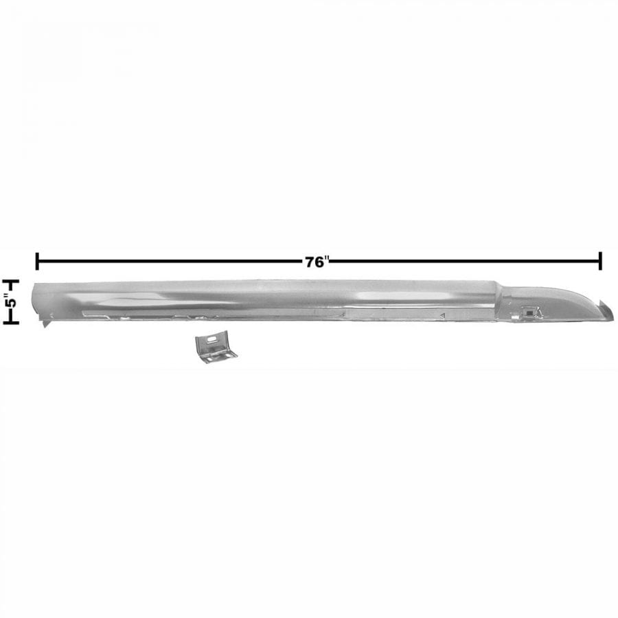 1965-1966 Ford Mustang Rocker Panel Complete Passenger Side (RH) Coupe or Fastback