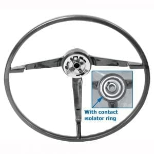 1965-1966 Ford Mustang Steering Wheel Black Std