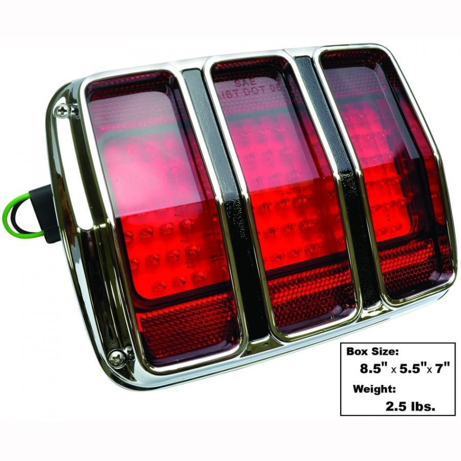 1965-1966 Ford Mustang Tail Lamp LED with Bezel