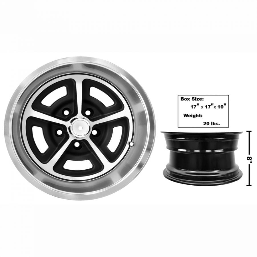 1965-1973 Ford Mustang Magnum Alloy Wheel 15 X 8 with Cap