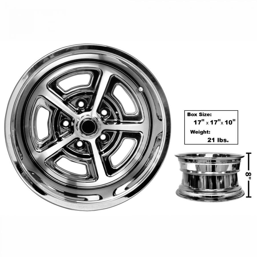 1965-1973 Ford Mustang Magnum Alloy Wheel 15X8 Coated