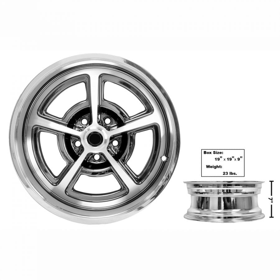 1965-1973 Ford Mustang Magnum Alloy Wheel 17 X 7 Coated