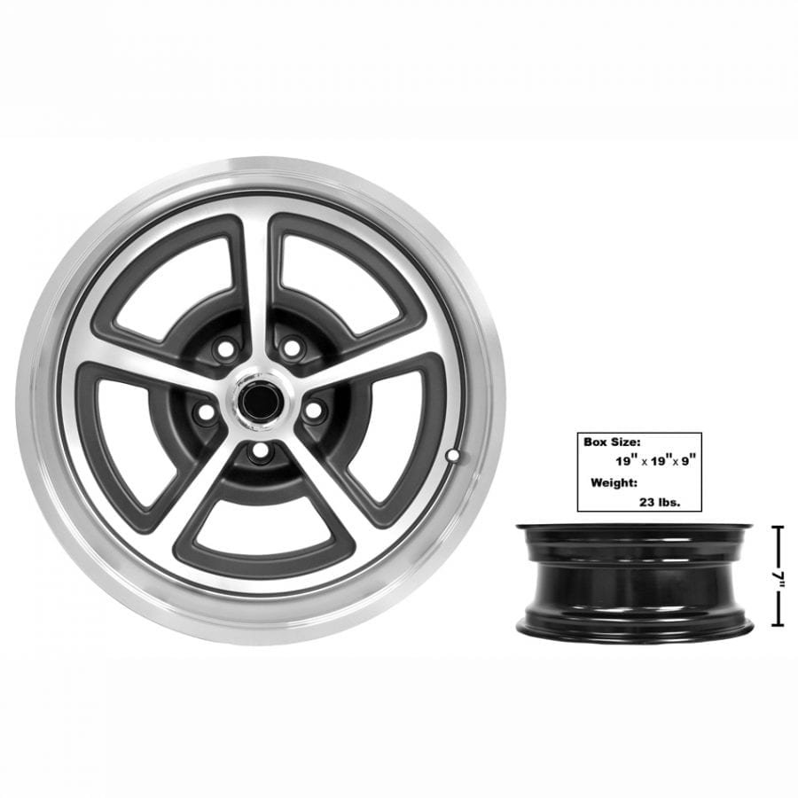 1965-1973 Ford Mustang Magnum Alloy Wheel 17 X 7 with Cap