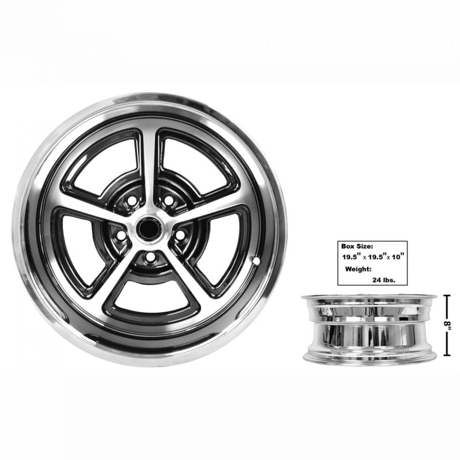 1965-1973 Ford Mustang Magnum Alloy Wheel 17 X 8 Coated