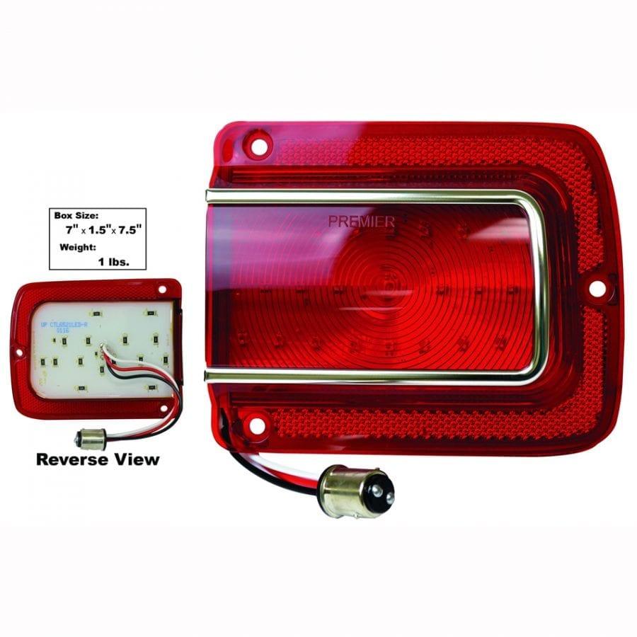 1965 Chevy Chevelle Tail Lamp Lens Passenger Side (RH) LED